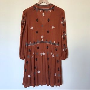 Free People Dresses - Free People Embroidered Long Sleeve Dress